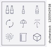 outline 9 drop icon set. love... | Shutterstock .eps vector #1205543938