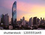 sunset sky evening bangkok... | Shutterstock . vector #1205551645