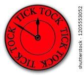 a red and black modern tick... | Shutterstock . vector #1205553052