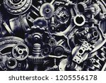 steampunk texture  backgroung... | Shutterstock . vector #1205556178