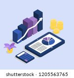 financial growth  accounting... | Shutterstock .eps vector #1205563765