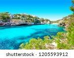 cala santanyi mallorca spain... | Shutterstock . vector #1205593912