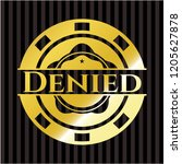 denied golden emblem | Shutterstock .eps vector #1205627878