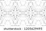 black and white mosaic pattern... | Shutterstock . vector #1205629495