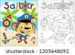 coloring book vector with... | Shutterstock .eps vector #1205648092