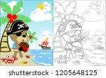 coloring book vector of finding ...   Shutterstock .eps vector #1205648125
