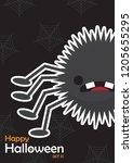happy halloween day design... | Shutterstock .eps vector #1205655295