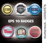 badges eps 10   Shutterstock .eps vector #120565576