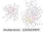 light multicolor  rainbow...   Shutterstock .eps vector #1205655895