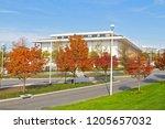 a public square near john f.... | Shutterstock . vector #1205657032