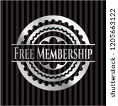 free membership silvery badge... | Shutterstock .eps vector #1205663122