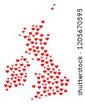 collage map of great britain...   Shutterstock .eps vector #1205670595