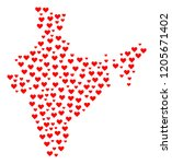 mosaic map of india created... | Shutterstock .eps vector #1205671402