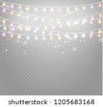 christmas lights isolated... | Shutterstock .eps vector #1205683168