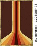 vector vintage grunge... | Shutterstock .eps vector #1205685475