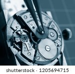 close up of watchmaker... | Shutterstock . vector #1205694715