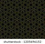vector geometric seamless... | Shutterstock .eps vector #1205696152