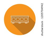 passenger train icon with long ... | Shutterstock .eps vector #1205704942