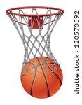 basketball through net is an... | Shutterstock .eps vector #120570592