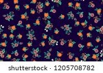 seamless floral pattern with... | Shutterstock . vector #1205708782