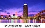 port of kobe tower in kobe ... | Shutterstock . vector #120572005