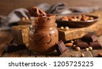vegan chocolate mousse | Shutterstock . vector #1205725225
