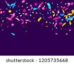 pink cyan blue gold foil... | Shutterstock .eps vector #1205735668