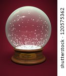 empty snow globe isolated on... | Shutterstock . vector #120575362