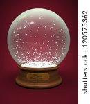 empty snow globe isolated on...   Shutterstock . vector #120575362