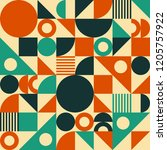 seamless vector geometric... | Shutterstock .eps vector #1205757922