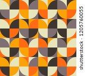 seamless vector geometric... | Shutterstock .eps vector #1205760055
