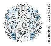 zodiac vector signes   gemini...   Shutterstock .eps vector #1205763658