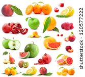 Collection Of Fruits Isolated...