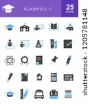 academics filled blue   black... | Shutterstock .eps vector #1205781148