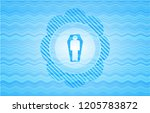 dead man in his coffin icon... | Shutterstock .eps vector #1205783872