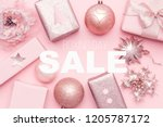 boxing day sale background.... | Shutterstock . vector #1205787172