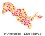 collage map of uzbekistan...   Shutterstock .eps vector #1205788918