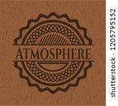 atmosphere wood emblem. retro | Shutterstock .eps vector #1205795152