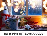 christmas holidays composition ... | Shutterstock . vector #1205799028