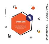 overcome infographic icon | Shutterstock .eps vector #1205804962
