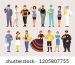 group of people of different... | Shutterstock .eps vector #1205807755