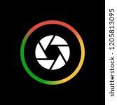 aperture   app icon | Shutterstock .eps vector #1205813095