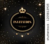 vip invitation template with... | Shutterstock .eps vector #1205813935