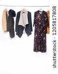 different clothes  fur coat ...   Shutterstock . vector #1205817808