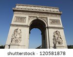 arc de triomphe from below paris | Shutterstock . vector #120581878