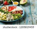 cobb salad.  main dish american ...   Shutterstock . vector #1205819455