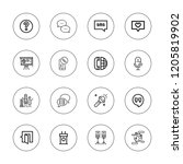 speech icon set. collection of...   Shutterstock .eps vector #1205819902