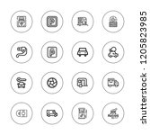 automobile icon set. collection ... | Shutterstock .eps vector #1205823985