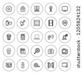 television icon set. collection ...   Shutterstock .eps vector #1205824132