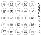 musical icon set. collection of ... | Shutterstock .eps vector #1205824165